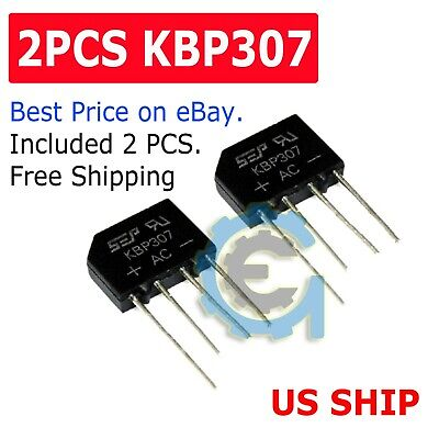 4 On Semiconductor Full Wave Bridge Rectifiers 12A @ 50Vac 80W P//N GBPC12005