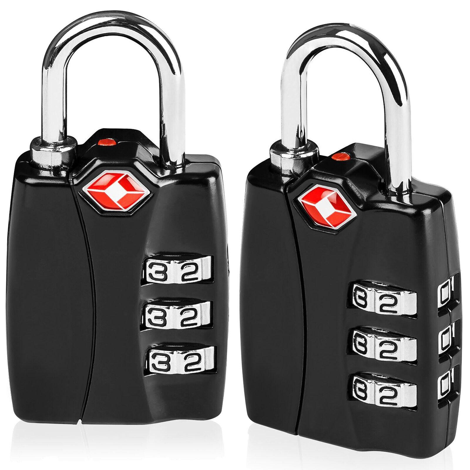 TSA Luggage Locks 3 Digit Combination Steel Padlocks Travel Lock Suitcases Bag - $10.44