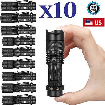 10 X Ultrafire Military Cree Xm L T6 10000Lm Led Flashlight  Police Torch Lamp