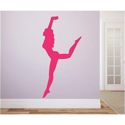 Sportschatten WANDTATTOO Turnen Gymnastik tanzend Wandsticker Wandaufkleber 1