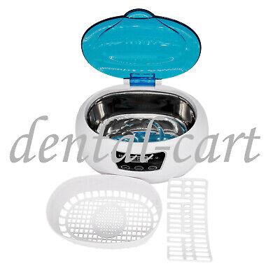 Ultrasonic Cleaner Ultra Sonic Wave Tank Basket Jewelry Glass Cleaning 600ml