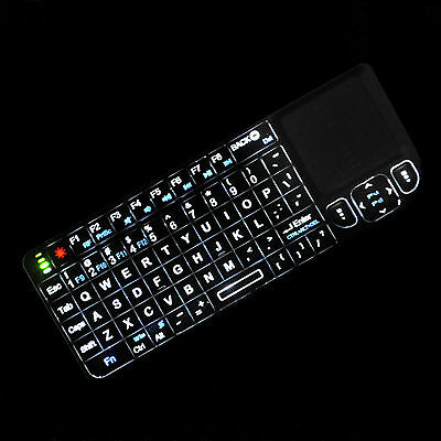 Backlit laser pointer Rii k01v3 (RT-MWK01) small wireless keyboard for smart TV