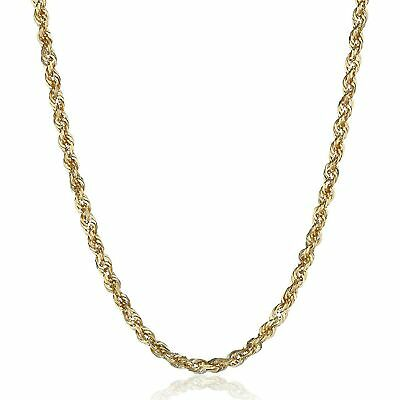 Eternity Gold Men's Glitter Chain Necklace in 14K Gold, 20""
