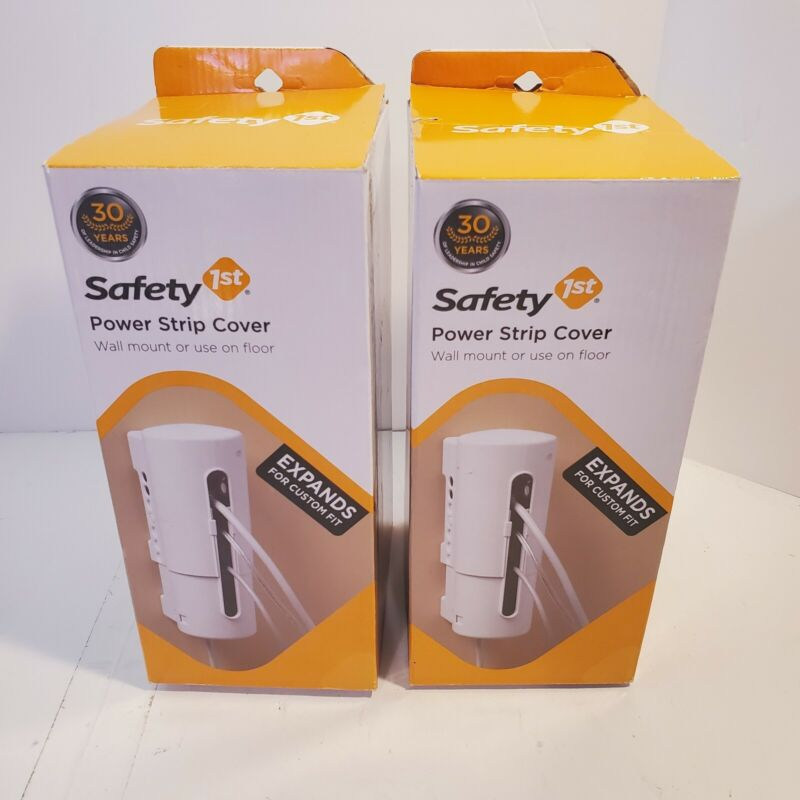Power Strip Covers Wall Mount or Floor Custom Fit Safety 1st #10409 (2 Pack)