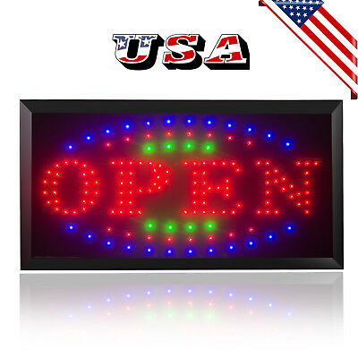 Usa Led Light Flash Motion Business Open Sign Chain Switch Bar Caf Attractive