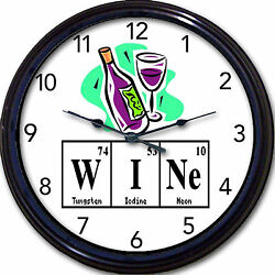 Wine Periodic Table Wall Clock Chemistry Elements Wine Bottle - Breaking Bad