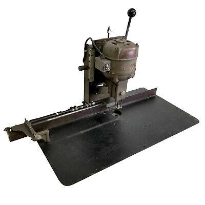 Vintage Pioneer Toledo Paper Single Head Desktop Drill Punch Whoover Motor