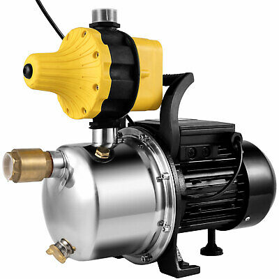Vevor Jet Water Pump Pressure Booster Pump 1 Hp Steel Self-priming Jet Pump