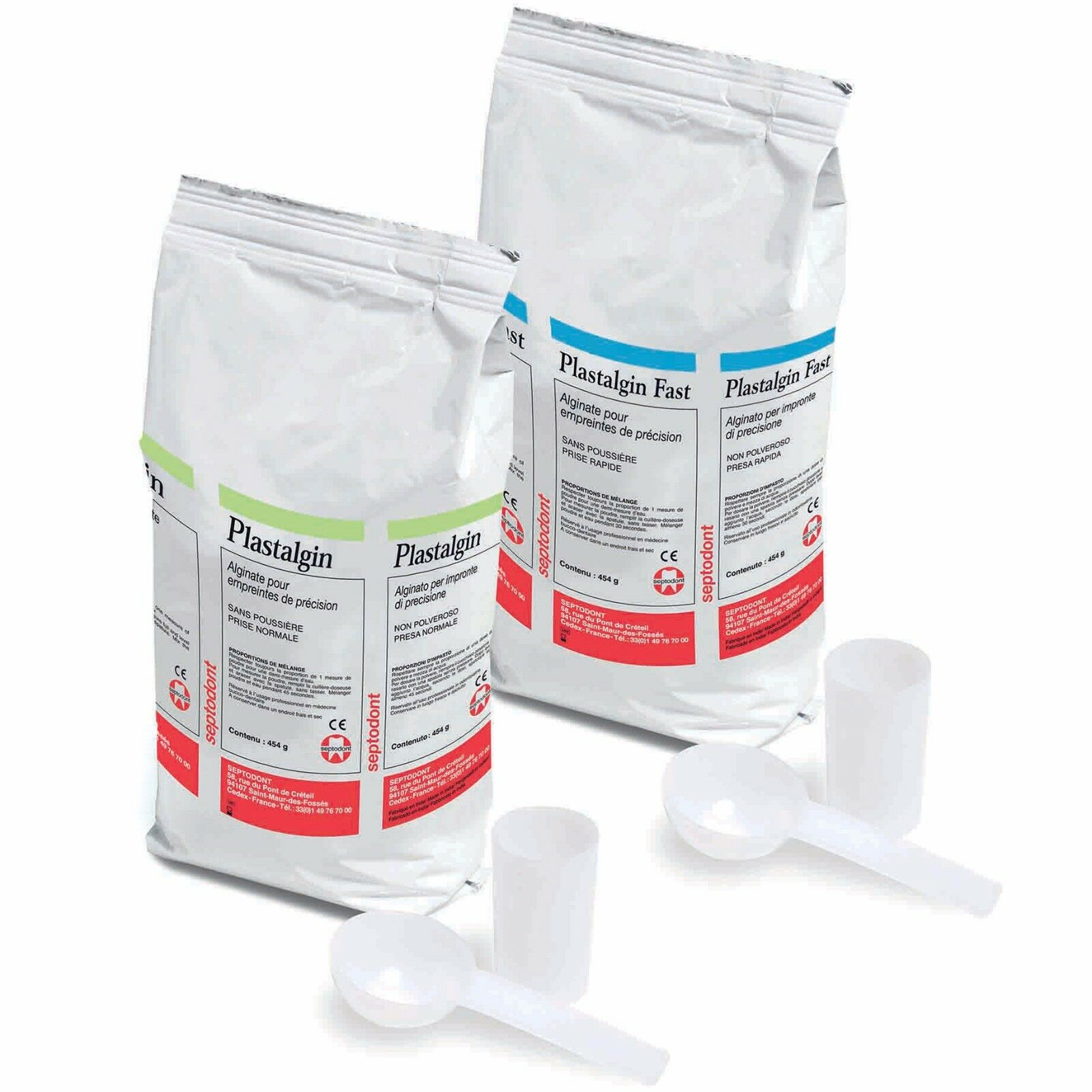 Alginate Plastalgin Dust-Free Impression Material Regular set 1LB ( 16oz ) / Bag