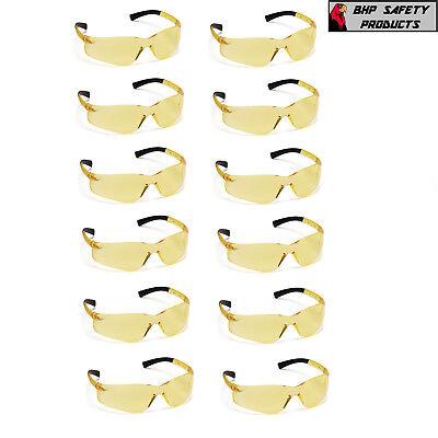 Pyramex Ztek Amber Safety Glasses Shooting Range Eyewear S2530s Z87 12 Pair