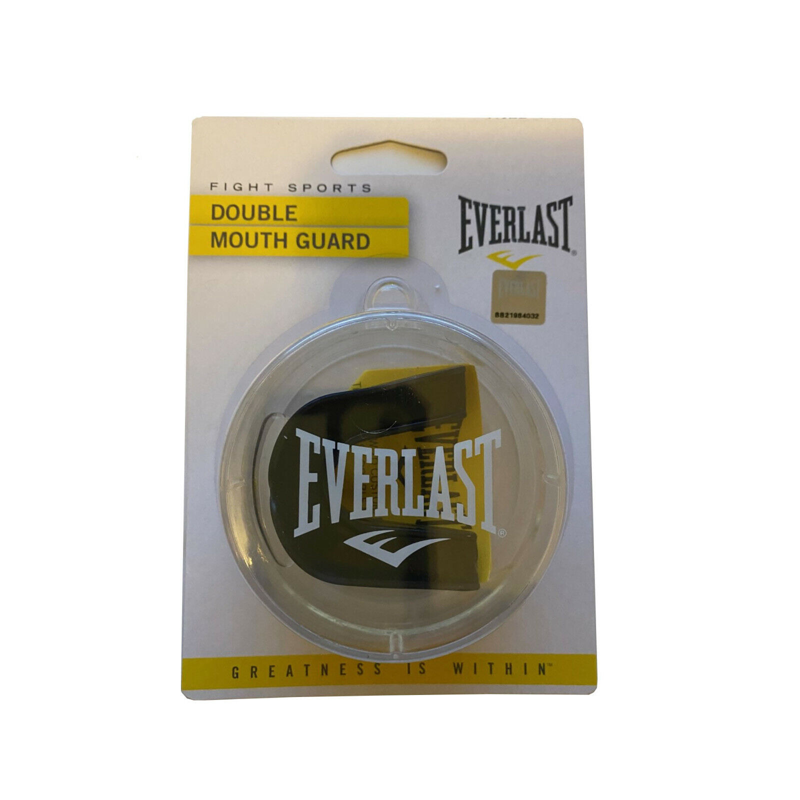 NEW Everlast Double Mouth Guard Black Model # P00002180