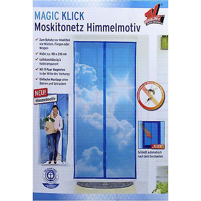 Insektenschutz Tür 210x90cm Türvorhang Vorhang magnetisch Fliegengitter Magnet