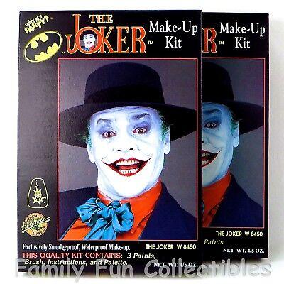 DC COMICS~1989 Generik Ink~2 Make Up Kits~The Joker~Batman Action Figure~NEW NOS