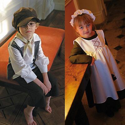 Ursula Costume Kids (Childrens Eddy Or Ursula Urchin World Book Day Victorian New Fancy Dress)