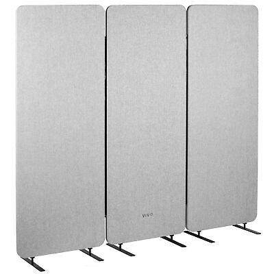 Used Vivo Gray 72 X 66 Inch Privacy Panel Office Partition Cubicle Room Divider