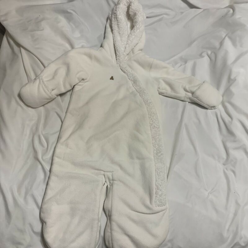 Baby Gap White Snowsuit 6-12 Mos