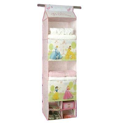 Disney Princess 5 Regal Hängende Pullover Organizer Faltreifen Garderobe Storage