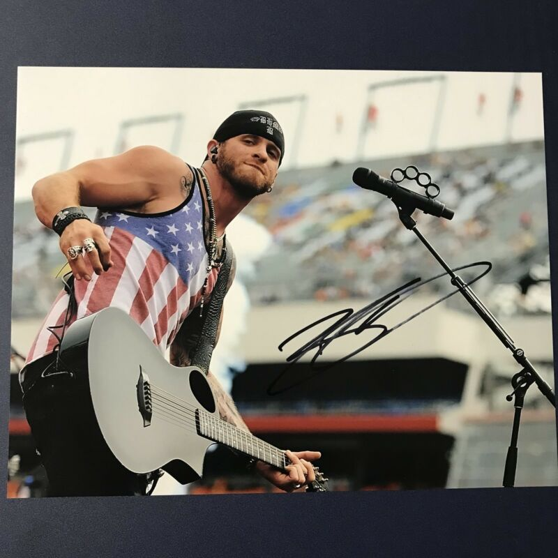 Brantley Gilbert Hand Signed 11x14 Photo Country Singer Autographed Authentic Autographs-original Country