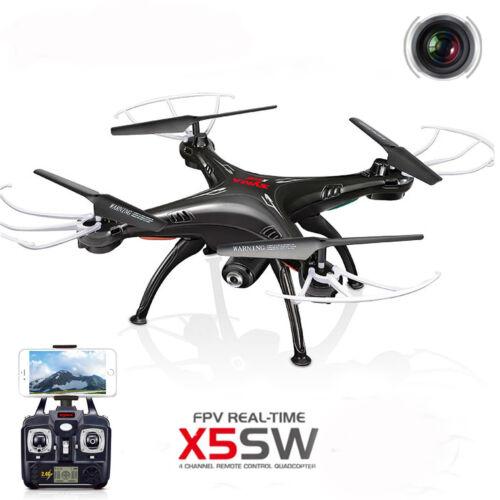 Syma X5SW Wifi FPV Explorers 2.4G 4CH RC Quadcopter Drone HD Camera UFO Black BP