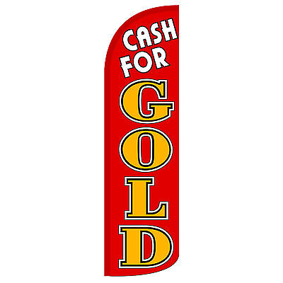 Cash For Gold Rg Extra Wide Windless Swooper Flag