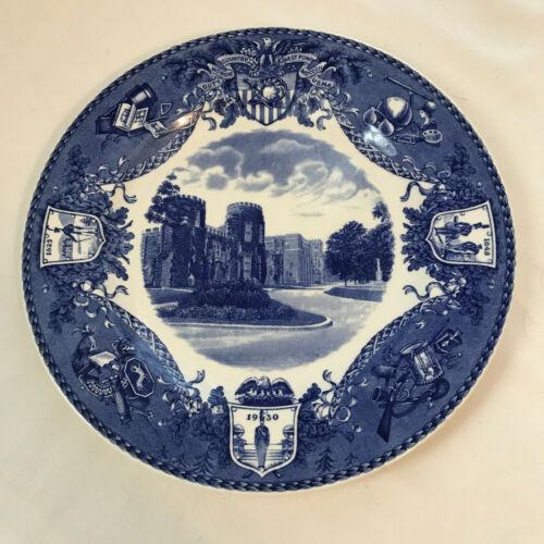 Rare USMA West Point U.S. Military Academy Wedgwood Plate Library & Academic Bld