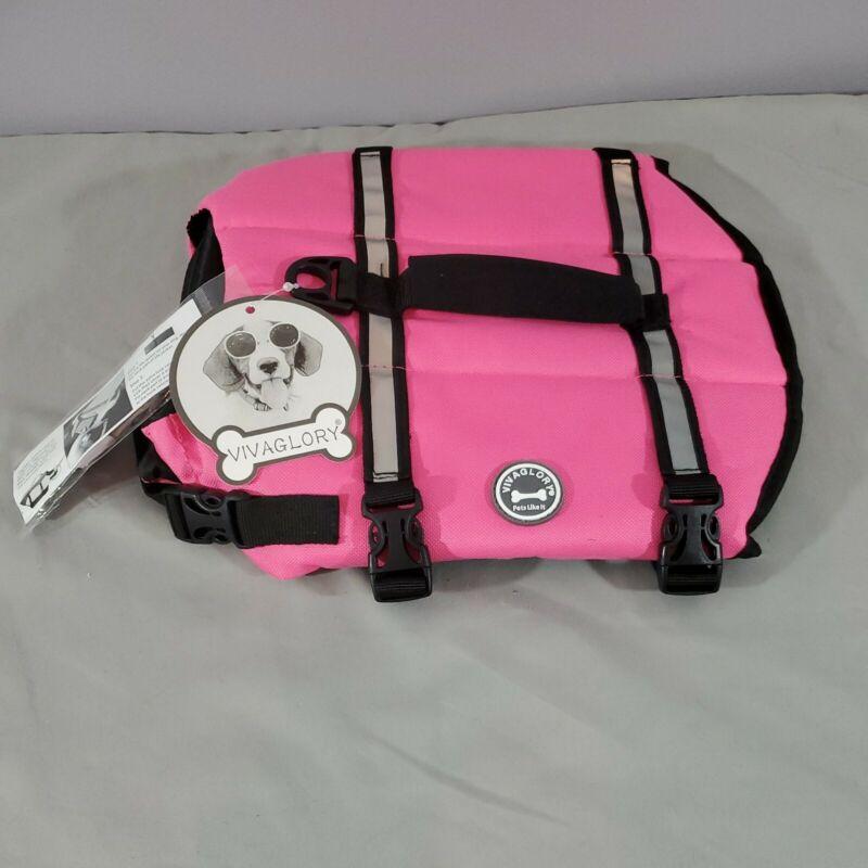 Vivaglory Dog Life Jacket Pink Size Small.