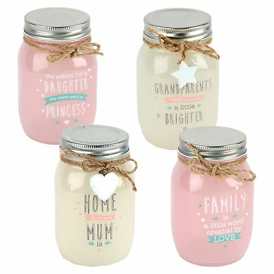 Love Life Light Up Mason Jar with Wording - Choose Design (Light Up Mason Jars)