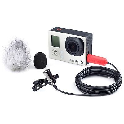 Saramonic Sr Gmx1 Platinum Lavalier Clip On Microphone For Gopro Hero3   Hero4