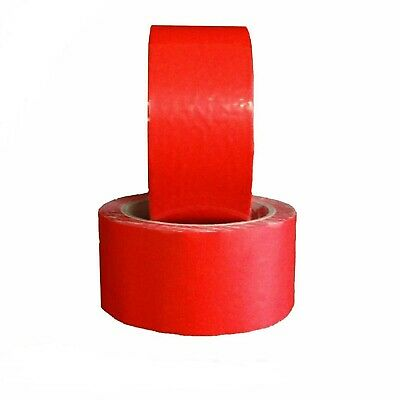 Red Pvc Premium Adhesive Packaging Shipping Tape 2.3 Mil 48mm X 50m 144 Rolls