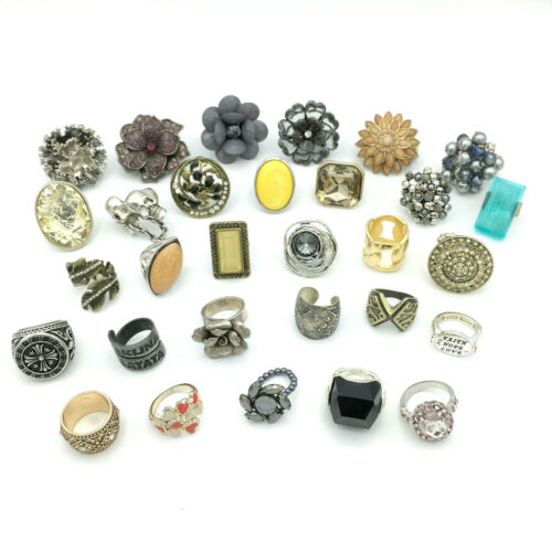 RESALE RINGS fashion jewelry lot - vintage to now fun mixed statement stretch