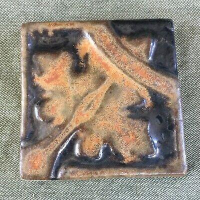 - Antique AETCO FAIENCE TILE w/ Copper Dust Crystalline Glaze