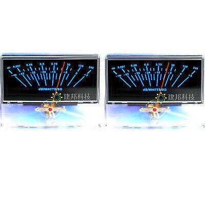 2x P-97 Vu Meter Audio Volume Unit Indicator Peak Amp Db Table Panel Level Meter