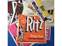 Vintage Ritz Beverage Lemon Soda Label St Louis Mo