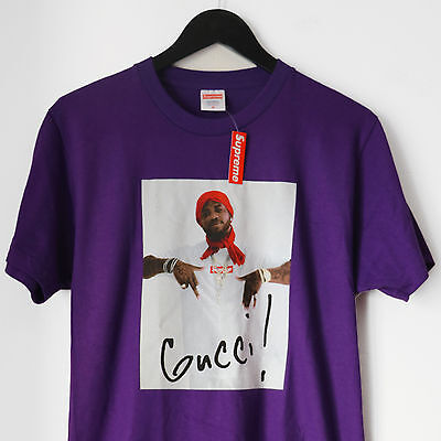 Supreme Gucci Mane Tee T Shirt Medium Purple Violet Box Logo Bogo