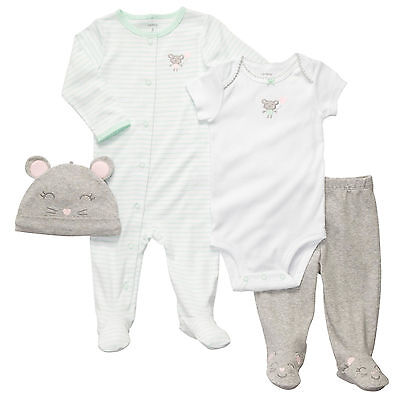 Carters 9 Months Mouse Mint Sleep & Play Gift Set Baby Girl