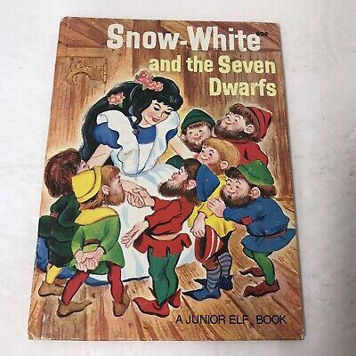 Vtg 1959 SNOW-WHITE and the Seven Dwarfs Rand McNally Jr Elf Book Irma (Snow White And The Seven Dwarf Elves)