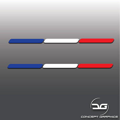 2x French Flag Stripes France Euro Car Dash Window Bumper Vinyl Decal Stickers (French Flag Bumper Sticker)