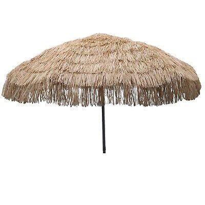 Whiskey Brown Palapa Tiki Hula Hawaiian 7.5 ft Patio or Beach Umbrella Tropical ](Hawaiian Patio)