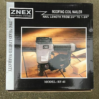 "Znex RF-45 Roofing Coil Nailer from 3/4"" to 1-3/4"""