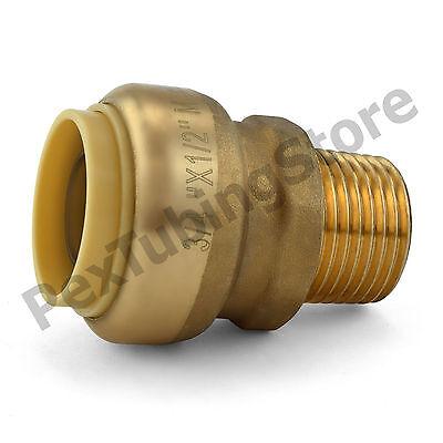 25 34 Sharkbite Style Push-fit X 12 Mnpt Lf Brass Male Threaded Adapters