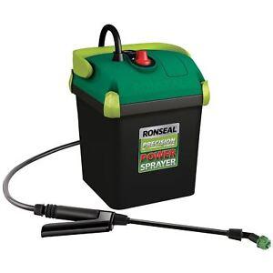 Ronseal Precision Power Paint Sprayer Battery Operated Cordless Garden Spray Gun