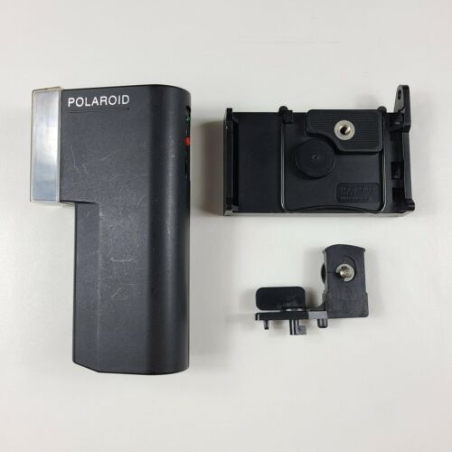 Polaroid Polatronic Flash 2350 & Tripod Stand 2352 for SX-70 Tested Working Cond