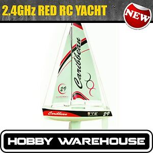 RC Sailboat Caribbean Yacht RC Model Yacht Sail Boat Joysway 8802 Red