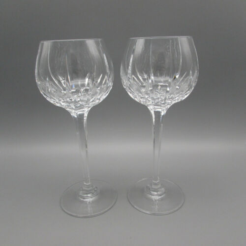 Mikasa Crystal Arctic Lights Hock Wine Glasses - Set of Two Rare