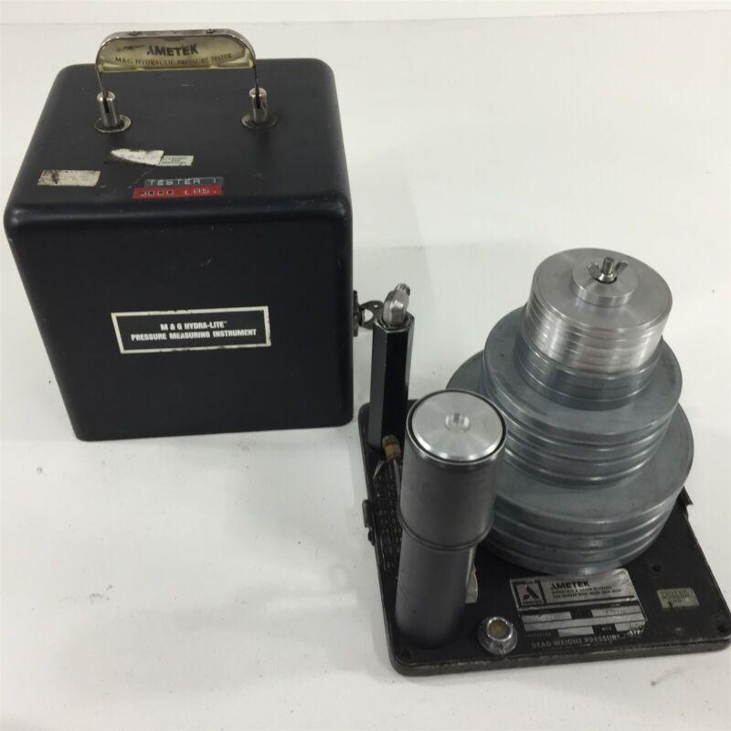 Ametek M&G Hydra-Lite Pressure Measuring Instrument HLG-30 Deadweight
