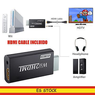 Adaptador Wii a HDMI Conversor de Wii2HDMI 720p y 1080p con Cable...