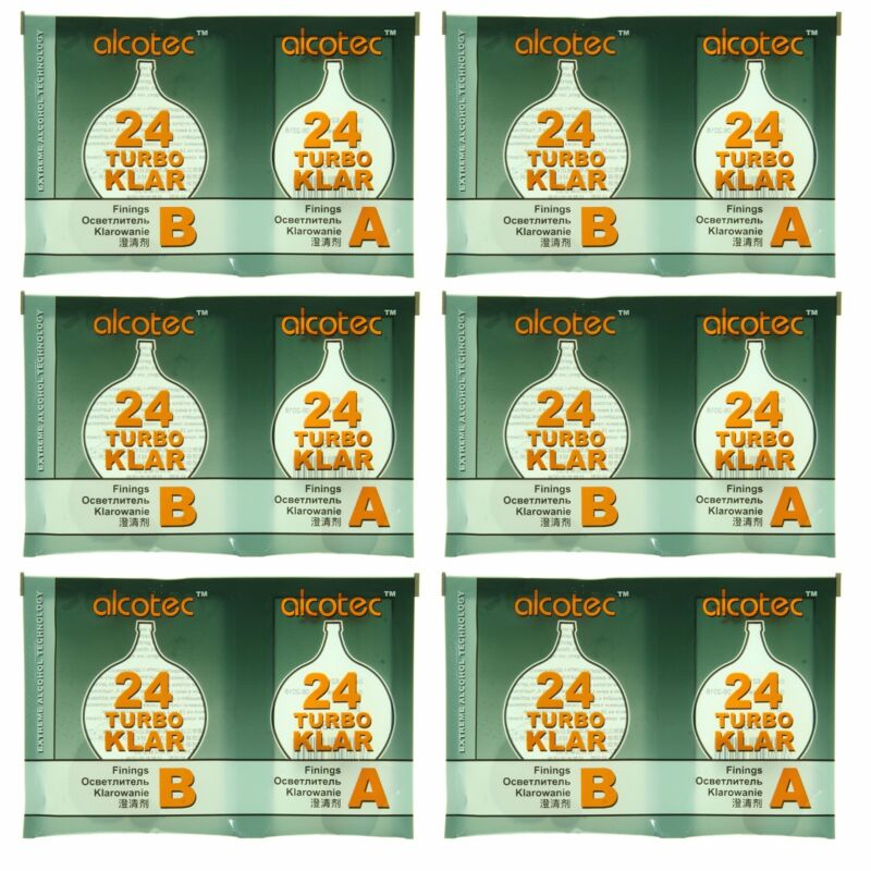 Alcotec TurboKlar Turbo Clearing Agent (Pack of 6) - Just $3.75 per Package!