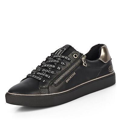 Dockers Damen Sneaker Turnschuhe Lifestyle-Schuhe Freizeitschuhe Schuh schwarz