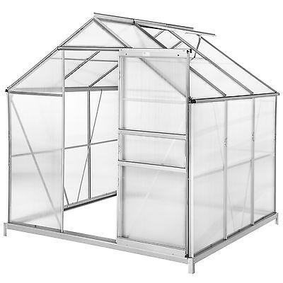 Invernadero de jardín policarbonato con base casero plantas cultivos 5,85m³
