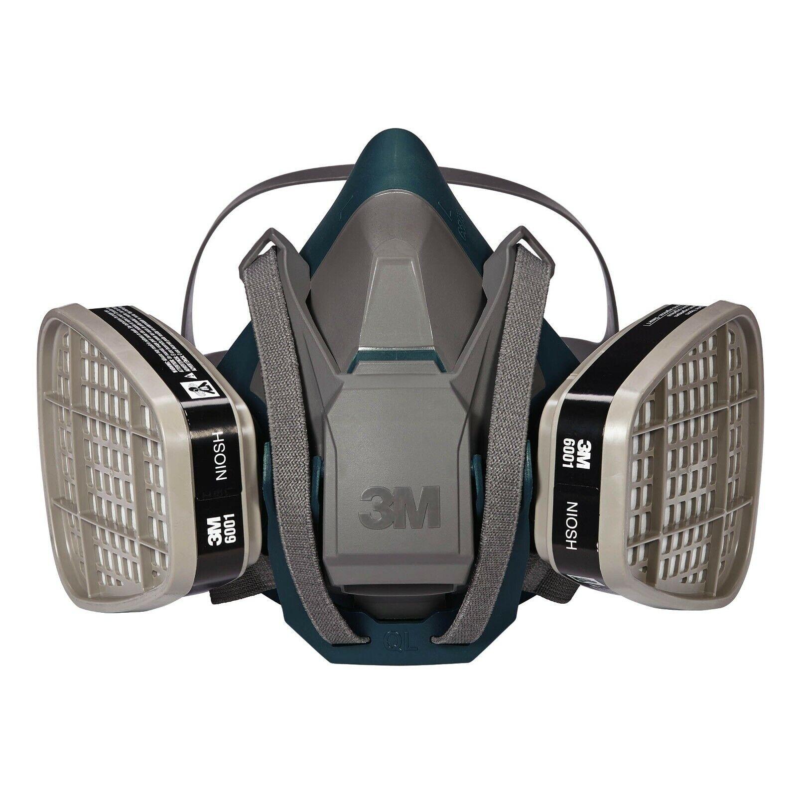 3M 6501QL Rugged Respirator  & 2 EA 6001 Organic Vapor Cartridge, SMALL Business & Industrial